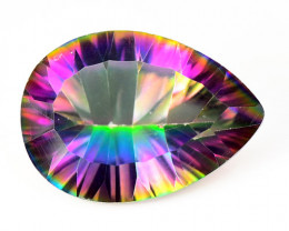 Mystic Topaz 4.59 Cts Rare Fancy Rainbow Color Natural