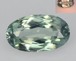 Alexandrite 0.59 Cts Amazing Rare Color Change Green To Orange Natural