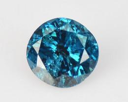Diamond 0.09 Cts Sparkling Rare Fancy Blue Color Natural