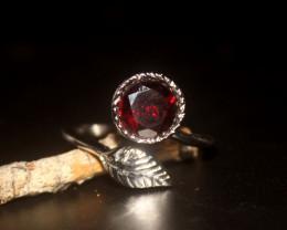 Natural Garnet 925 Silver Ring 370