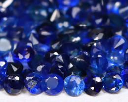 2.82Ct Calibrate 1.4mm Round Natural Blue Color Sapphire Lot A2803