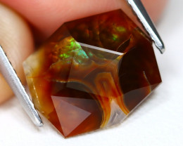 Mexican Fire Agate 4.19Ct Master Cut Natural Mexican Fire Agate A2807