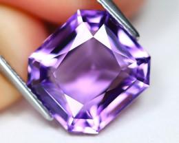 Amethyst 6.02Ct VVS Octagon Cut Natural Bolivian Purple Amethyst A2816