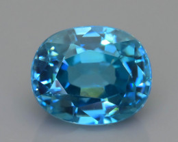 AAA Brilliance 4.28 ct Blue Zircon Cambodia SKU.13