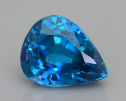 AAA Brilliance 3.16 ct Blue Zircon Cambodia SKU.13