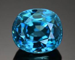AAA Brilliance 2.76 ct Blue Zircon Cambodia SKU.13
