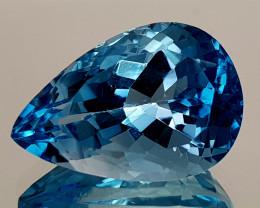 14.25Crt Natural Blue Topaz Natural Gemstones JI121