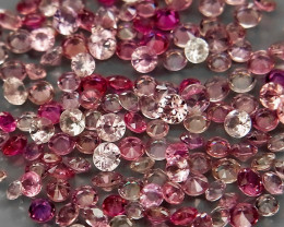 150Pcs/4.10Ct. Diamond Cut 1.5 to 2mm.Fancy Color UNHEATED Sapphire Songea
