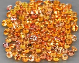 140Pcs/4.08Ct./1.7 mm Diamond Cut Ravishing Color Yellow Natural Sapphire