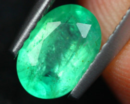 0.81ct Natural Zambia Green Emerald Oval Cut Lot V8674