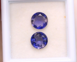 1.83ct Natural Blue Iolite Round Cut Lot A1196