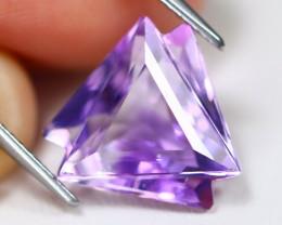 Amethyst 6.06Ct VVS Designer Cut Natural Bolivian Purple Amethyst A3005