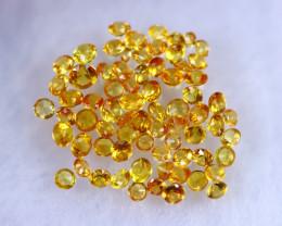 Diamond Cut 6.21cts Natural Orangish Yellow Sapphire Lots / MA1068