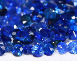 3.04Ct Calibrate 1.7mm Round Natural Blue Color Sapphire Lot B3015