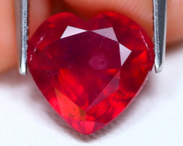 Red Ruby 5.01Ct Heart Cut Pigeon Blood Red Ruby C3006