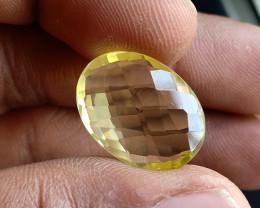 Natural Lemon Quartz Gemstone Checkered Cut VA3037