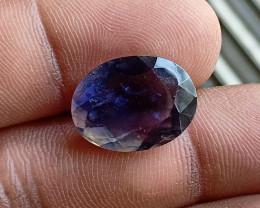 Natural iolite Gemstone Faceted Genuine Gem VA3056
