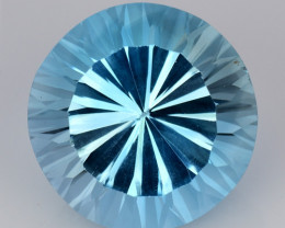 12.27 CT BLUE TOPAZ AWESOME COLOR AND CUT GEMSTONE TP4