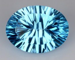 11.88 CT BLUE TOPAZ AWESOME COLOR AND CUT GEMSTONE TP5