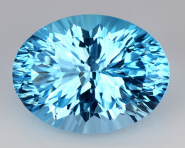 12.40 CT BLUE TOPAZ AWESOME COLOR AND CUT GEMSTONE TP12