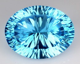 13.92 CT BLUE TOPAZ AWESOME COLOR AND CUT GEMSTONE TP14