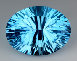 14.71 CT BLUE TOPAZ AWESOME COLOR AND CUT GEMSTONE TP20