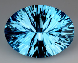 10.51 CT BLUE TOPAZ AWESOME COLOR AND CUT GEMSTONE TP21