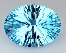 12.46 CT BLUE TOPAZ AWESOME COLOR AND CUT GEMSTONE TP25