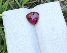 1.25 Ct Natural Red Transparent Heart Shape Rhodolite Garnet Gemstone