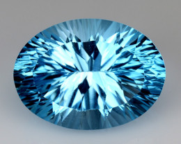 12.25 CT BLUE TOPAZ AWESOME COLOR AND CUT GEMSTONE TP29