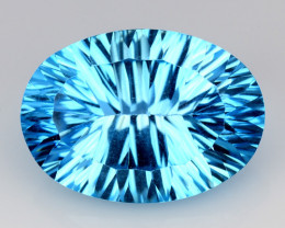 14.04 CT BLUE TOPAZ AWESOME COLOR AND CUT GEMSTONE TP30