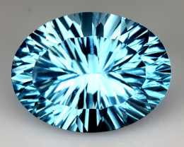 11.07 CT BLUE TOPAZ AWESOME COLOR AND CUT GEMSTONE TP31