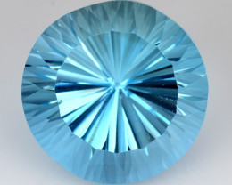 14.50 CT BLUE TOPAZ AWESOME COLOR AND CUT GEMSTONE TP32