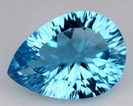 12.92 CT BLUE TOPAZ AWESOME COLOR AND CUT GEMSTONE TP34