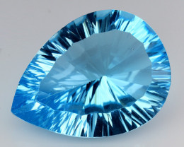 16.43 CT BLUE TOPAZ AWESOME COLOR AND CUT GEMSTONE TP36