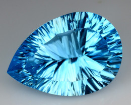 14.60 CT BLUE TOPAZ AWESOME COLOR AND CUT GEMSTONE TP40