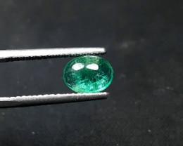 Emerald, 1.90 Carats Oval Natural Zambian Emerald Cabochon