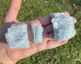 ETCHED AQUAMARINE CRYSTALS Lot