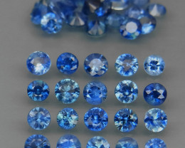 3.49 Ct/40Pcs/Round Diamond Cut 2.5 to 2.7mm. Cornflower Blue Sapphire