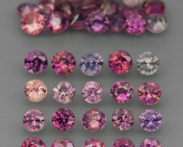 40Pcs/3.33Ct. Diamond Cut 2.5-2.7 mm.Fancy Color UNHEATED Sapphire Africa
