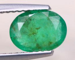 1.19ct Natural Zambia Green Emerald Oval Cut Lot GW8249