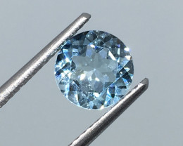 1.40 Carat VVS Topaz Aqua Blue Precision Cut and Polished !