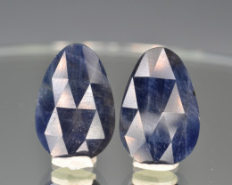 Natural Sapphire Pair 15.77 Cts From Afghanistan