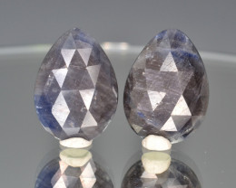 Natural Sapphire Pair  22.86 Cts From Afghanistan