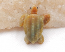 36cts Hand Carved Turtle Cabochon ,Amazonite Turtle,Great Craft H1392