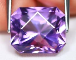 Amethyst 7.44Ct VVS Master Cut Natural Bolivian Purple Amethyst A0201