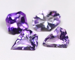 Amethyst 6.09Ct Fancy Cut Natural Bolivian Purple Amethyst Lot A0207