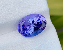 Natural Tanzanite 3.91 Cts Top Grade  Faceted Gemstone