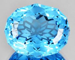 ~CUSTOM CUT~ 9.40 Cts Dazzling Natural Blue Topaz Fancy Oval Brazil