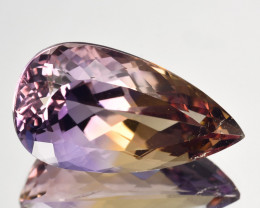 10.31Cts Marvelous Ultra Rare Natural Ametrine Pear Cut Gem Bolivia